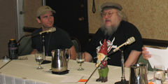 Alex and George R R Martin at Trinoc-Con